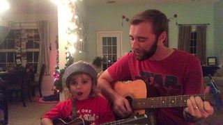 Father and son deliver heartwarming duet - Video