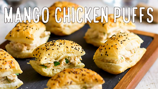 Chicken Puff Pastry Appetizers - Video