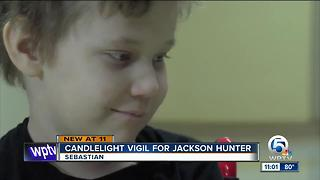 Candlelight vigil held for Jackson Hunter - Video
