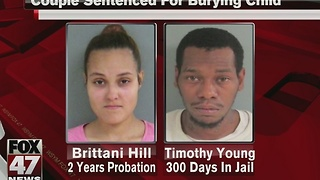 Couple sentenced for concealing death of infant