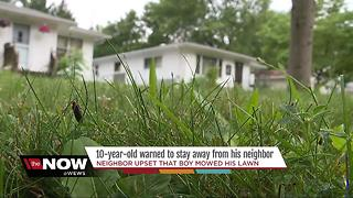 Akron man files police report because 10-year-old neighbor cut his grass - Video