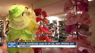 San Diego businesses cash in on Del Mar Races Opening Day fashion - Video