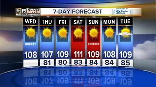 Sunny, hot week ahead - Video