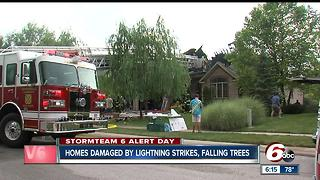 Johnson County Homes damaged by lightning strikes, falling trees - Video