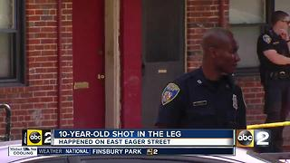 10-year-old shot in the leg in E. Baltimore - Video