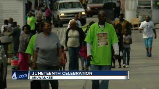 Juneteenth celebration in Milwaukee - Video