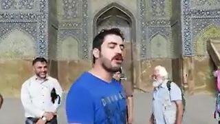Beautiful singing in Isfahan's most famous mosque