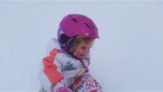 3-Year-Old Girl Is the Cutest Snowboarder to Ever Exist - Video