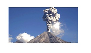 Plumes of Smoke Explode From Colima Volcano