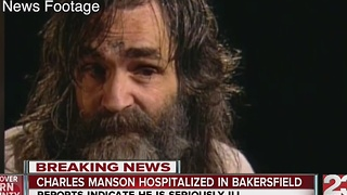 Charles Manson hospitalized - Video