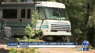 Man not allowed to live on camper parked on his property - Video