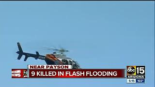 Nine dead, 2 missing after flash flood in Payson - Video
