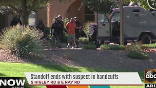Robbery suspect identified after SWAT situation in Gilbert - Video