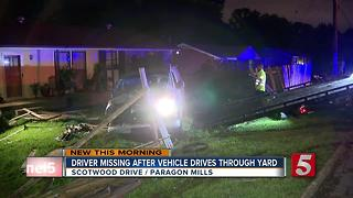 Alleged Drunk Driver Crashes Into Yard, Flees - Video