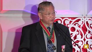 Rare Goes Yellow: Capt. Wade Ishimoto gives speech on veterans | Rare Military - Video