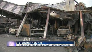 Buff Whelan open for business after massive fire - Video
