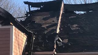 Family of five out of house after fire - Video