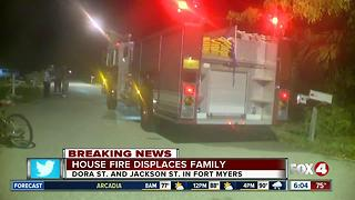 Residents and pets safe after Fort Myers house fire - Video