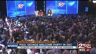 OKC Thunder host Paul George Welcome Party - Video