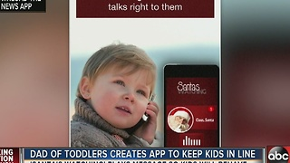 Santa's Watching app helps calm child temper tantrums - Video