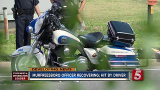 Murfreesboro Police Officer Seriously Injured In Crash - Video