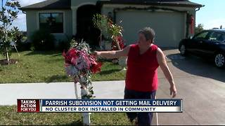 No mail delivery for Parrish subdivision has neighbors upset - Video