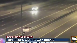 DPS stops wrong-way driver on Loop 101 eastbound near 35th Avenue overnight - Video