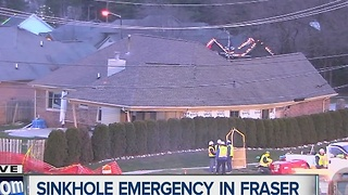Sinkhole emergency in Fraser