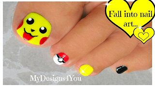Cute Pokémon toenail art: Pikachu nails - Video
