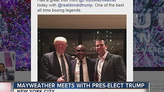 Floyd Mayweather meets with Donald Trump - Video