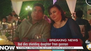 Dad dies shielding daughter from gunman - Video