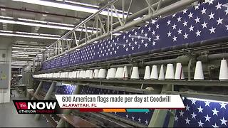 South Florida Goodwill produces 600 U.S. flags a day - Video