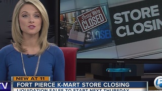Fort Pierce K-Mart store closing - Video