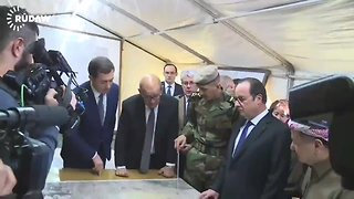 Hollande Discusses Mosul Offensive With Kurdish Officials - Video