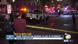 Camp Pendleton marine killed in stabbing - Video