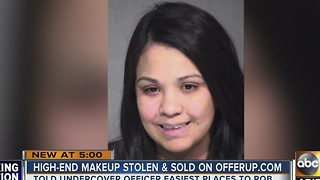 Woman robs makeup stores 20 different times - Video