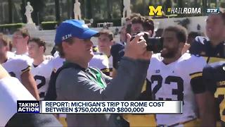Michigan's Rome trip cost between $750,000-800,000 - Video