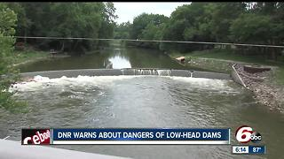 Indiana DNR warns about dangers of low-head dams - Video