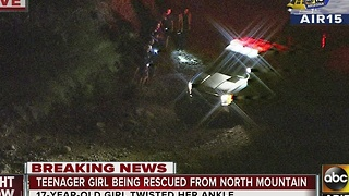 Teenage girl being rescued from North Mountain - Video
