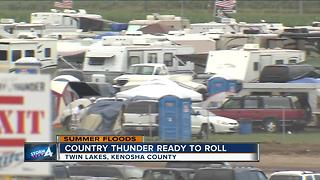 Country Thunder Music Festival deals with flood aftermath - Video