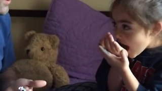 Little Girl Has Priceless Reaction After Trying Pop Rocks Candy - Video
