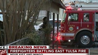 Fire breaks out inside east Tulsa trailer - Video