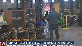 City Of Tulsa Surplus Action Tomorrow Morning - Video