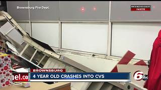 4-year-old crashes car into Brownsburg CVS - Video