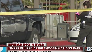 Three in hospital after dog park shooting