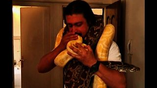Man Shares Flat With Snakes, a Croc and a Monkey - Video