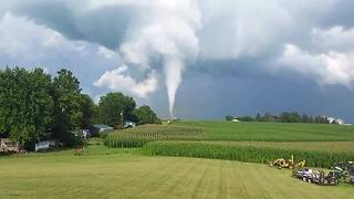 Tornado Touches Down in Iowa County - Video