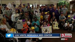 LSU plays ball with pediatric patients - Video