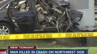 Man killed in crash on Indy's northwest side - Video