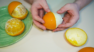 How to Peel an Orange Amazing Way - Video